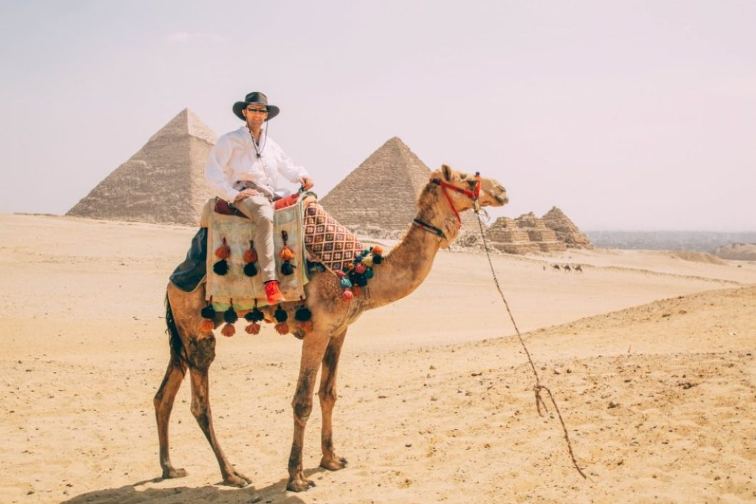 the camel rides at the pyramids