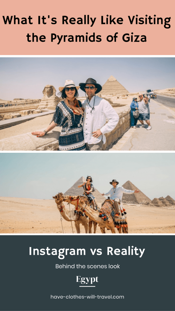 Instagram vs Reality - What it's really like to visit the Pyramids of Giza in Egypt