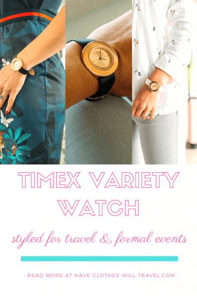 Styling a Timex Variety Watch from a Travel Outfit to a Formal Event