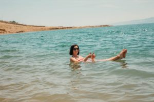 Floating in the Dead Sea!