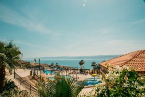 The gorgeous Dead Sea resorts.