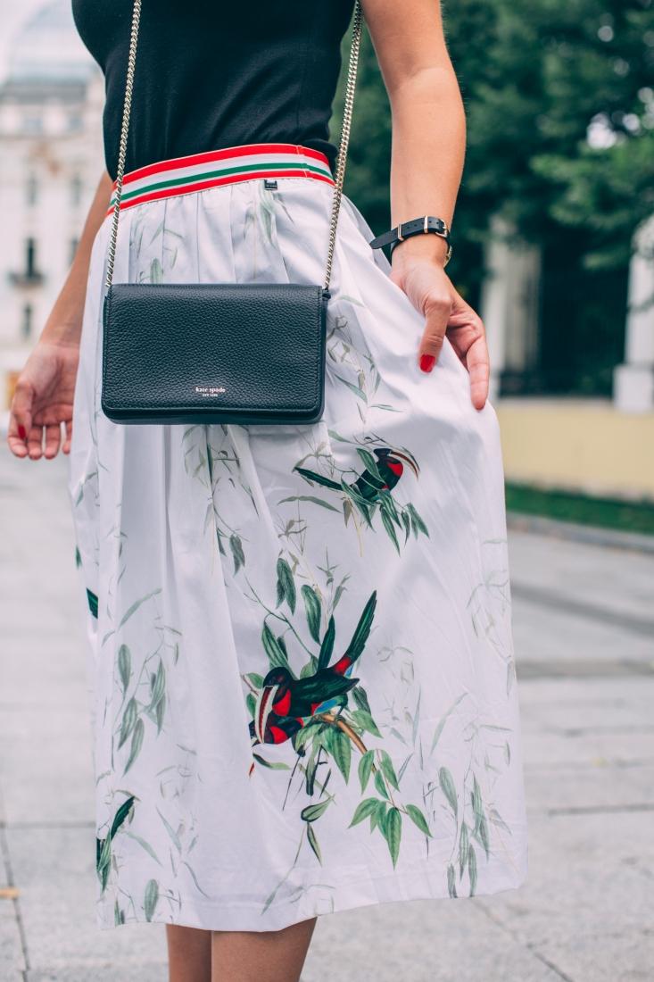 Ted Baker Skirt and Kate Spade bag
