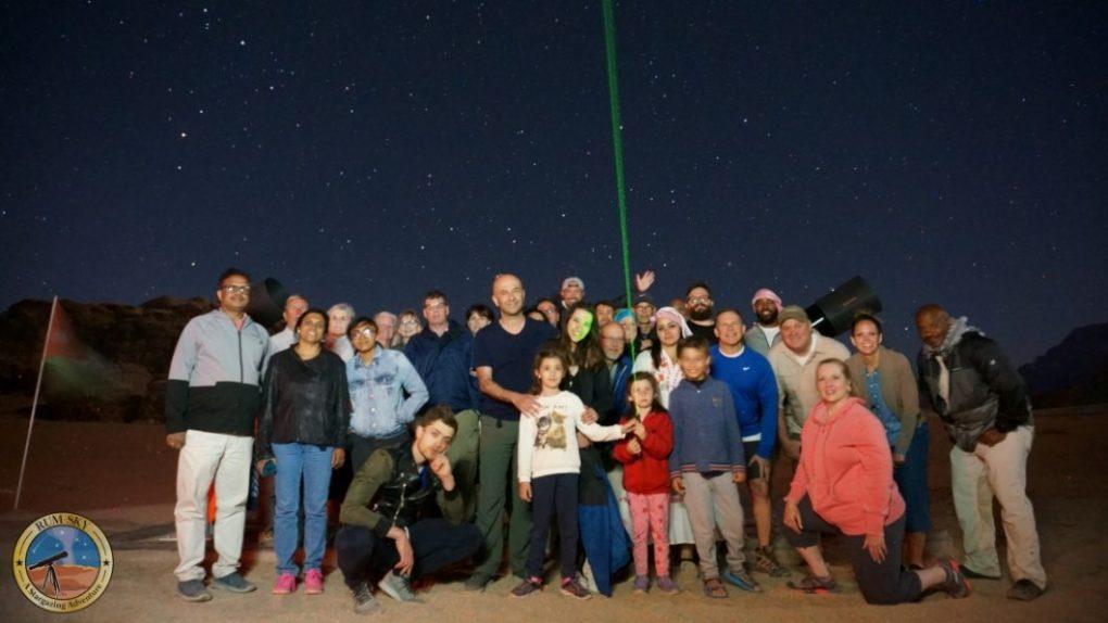stargazing at Wadi Rum