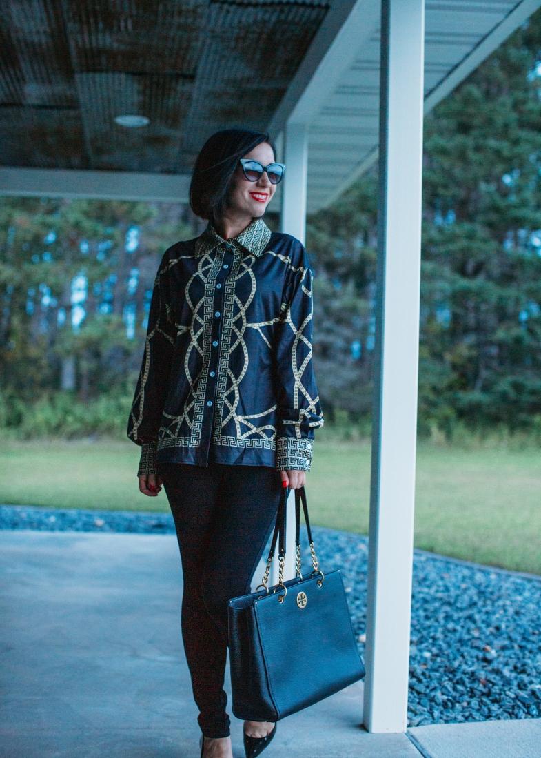 Chain shirt femme luxe