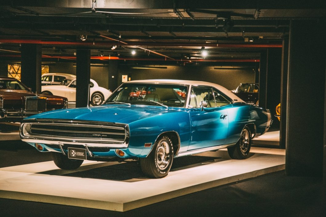 Photos of the Heydar Aliyev Center's Classic Car Exhibit in Baku,
