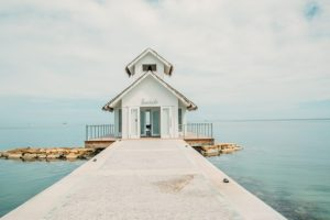 The over-the-water-wedding chapel