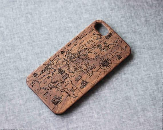 Vintage world map Phone case for iPhone 12 mini XR XS X wood iphone 7 case wooden iPhone xs case iPhone 12 pro max