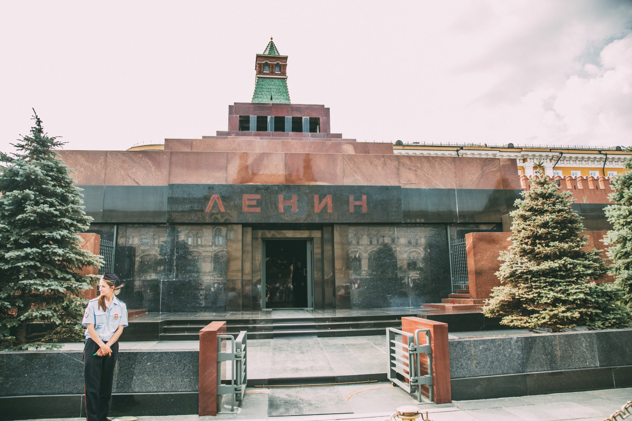 Lenin's Mausoleum in Red Square - one of many crazy things to do in Moscow, Russia