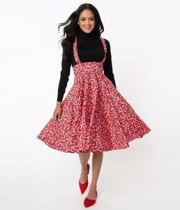 Black Bundle Of Love Heart Print Abby Pinafore Skirt 0.0 star rating