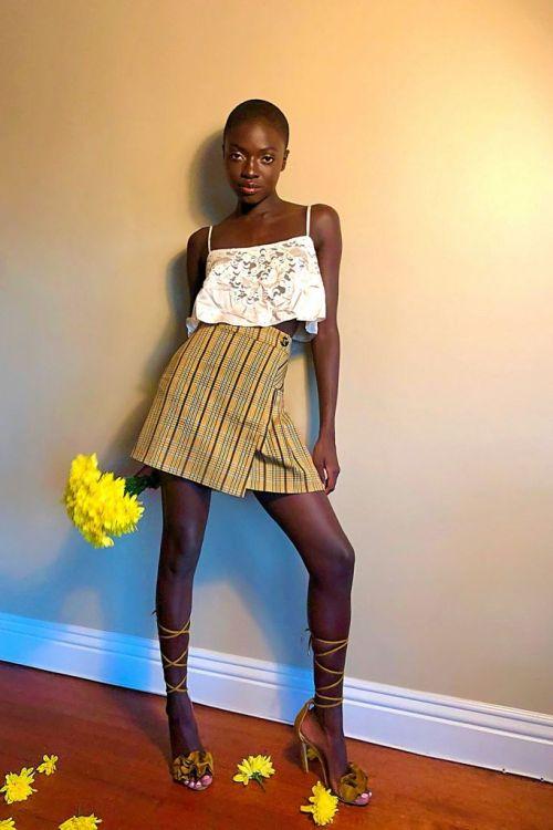 UO Patterned Pleated Mini Skirt