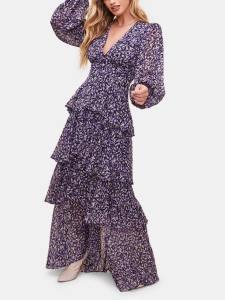 ASTR the Label Romance Me Balloon Sleeve Maxi Dress