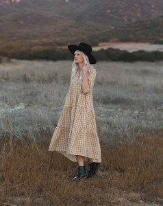 Rylee & Cru Womens Gingham Camilla Dress