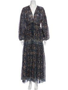 ULLA JOHNSON Floral Print Long Dress