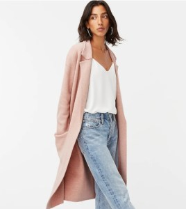 Ella open-front long sweater-blazer Item AD753