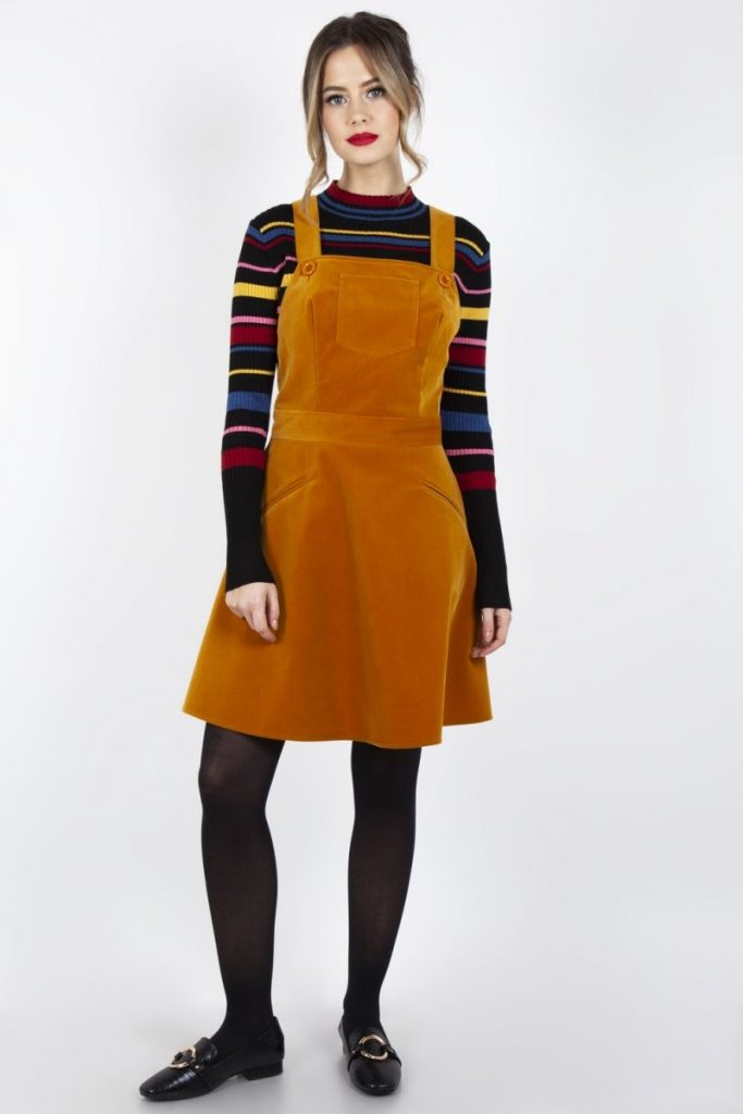 Katie Corduroy Overall Dress Vodoo Vixen - Modcloth europe alternative