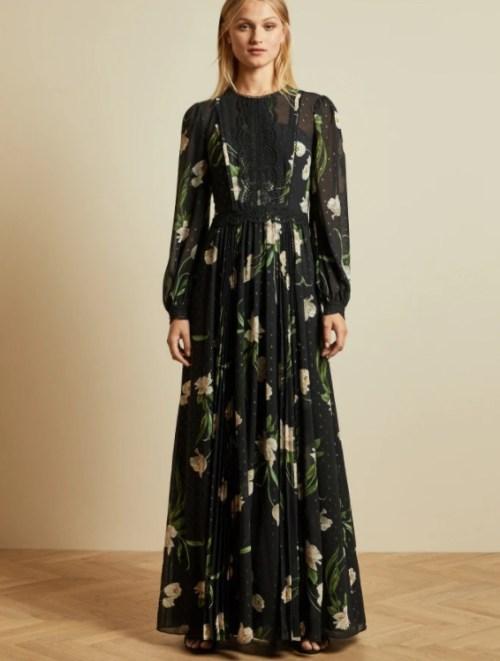 DEENHA Elderflower maxi dress