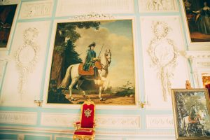 Inside the Grand Peterhof Palace.