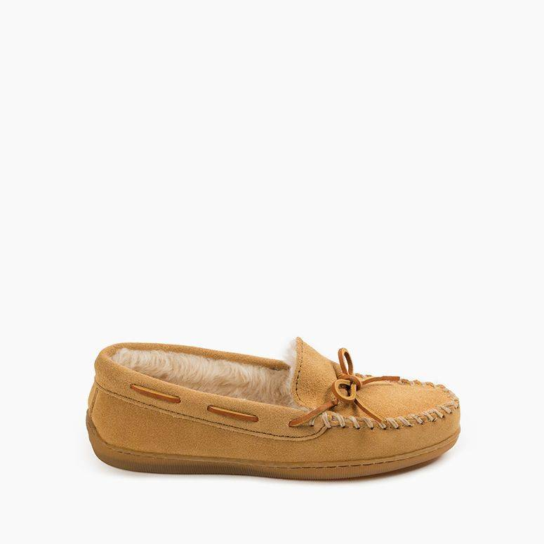 Pile Lined Hardsole slippers by Minnetonka