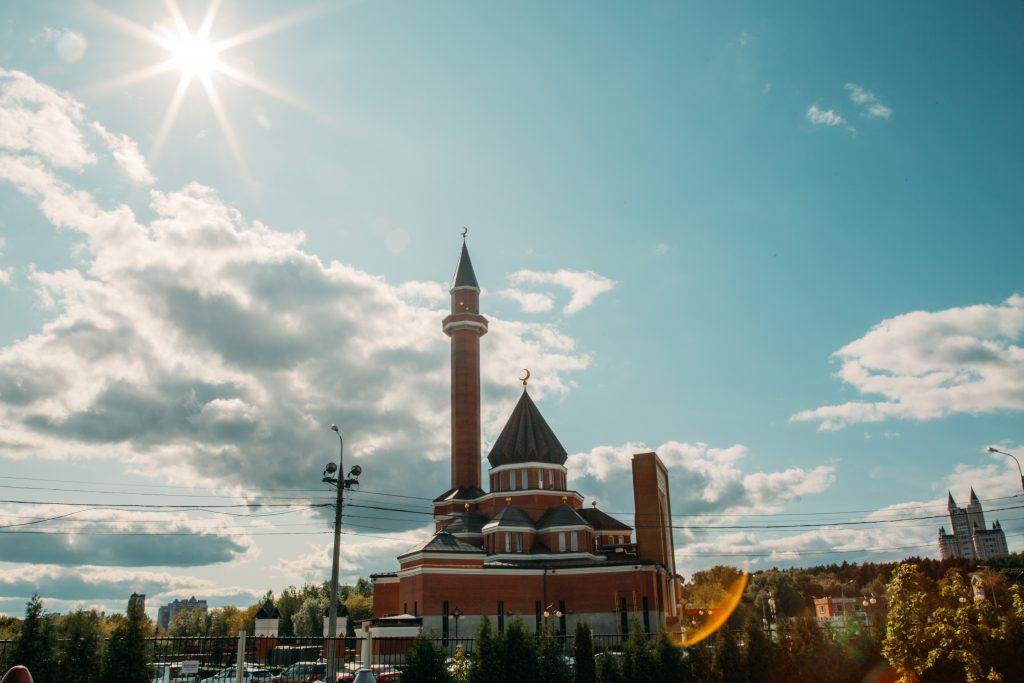 memorial mosque at victory park in moscow