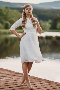 Zapaka Crepe Formal Dress