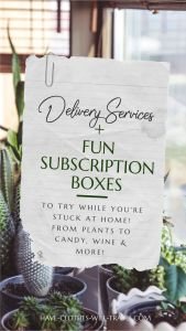 Fun Subscription Boxes & Delivery Services to Try While You're Stuck at Home