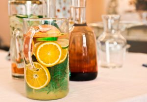 Make your own fruit infused water for your DIY spa day at home