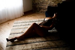 A boudoir shoot by Sara June Photography LLC.