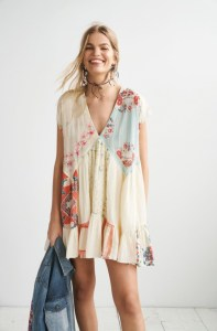 Mended With Scarves Mini Dress