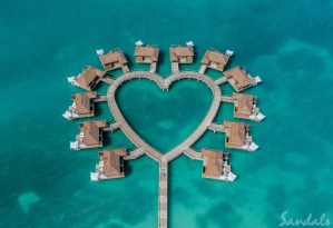 Sandals South Coast Whitehouse Jamaica overwater bungalows luxury resort in the Caribbean