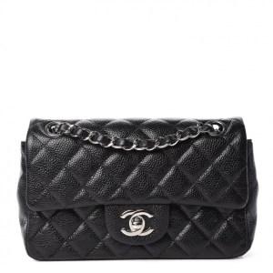 CHANEL Caviar Quilted Mini Rectangular Flap Black