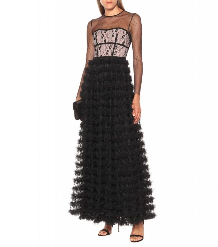 NEW ARRIVAL NEWSEASON REDVALENTINO Lace-trimmed tulle gown