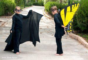 Halloween Bat Costume & Butterfly Costume DIY