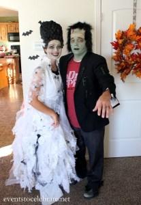 DIY Bride of Frankenstein Wig {Under $5!}