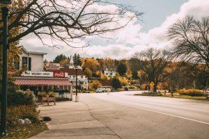Ephraim, Wisconsin in fall taken outside Wilson's Ice cream