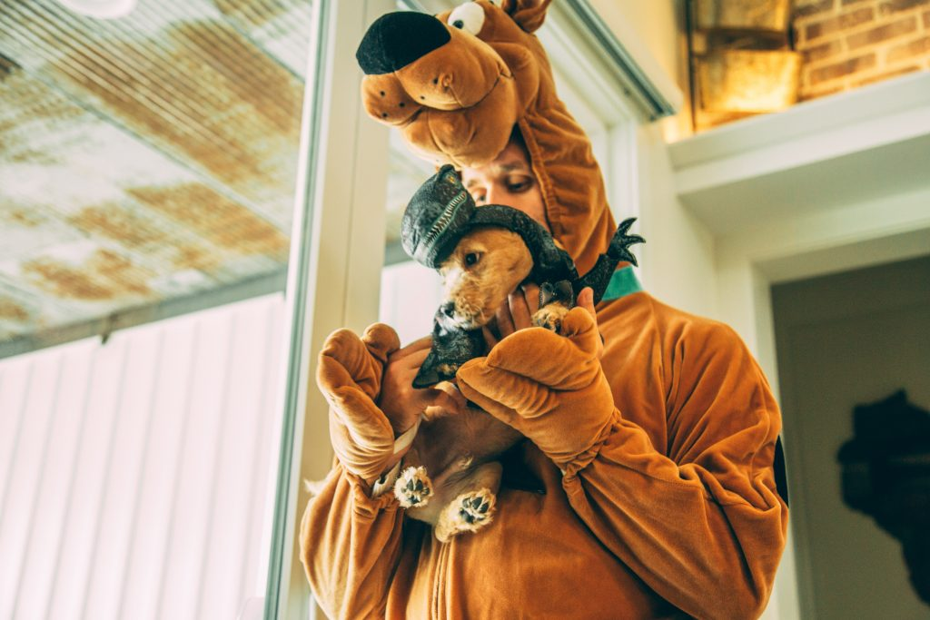 Buddy and Zac in their Halloween costumes