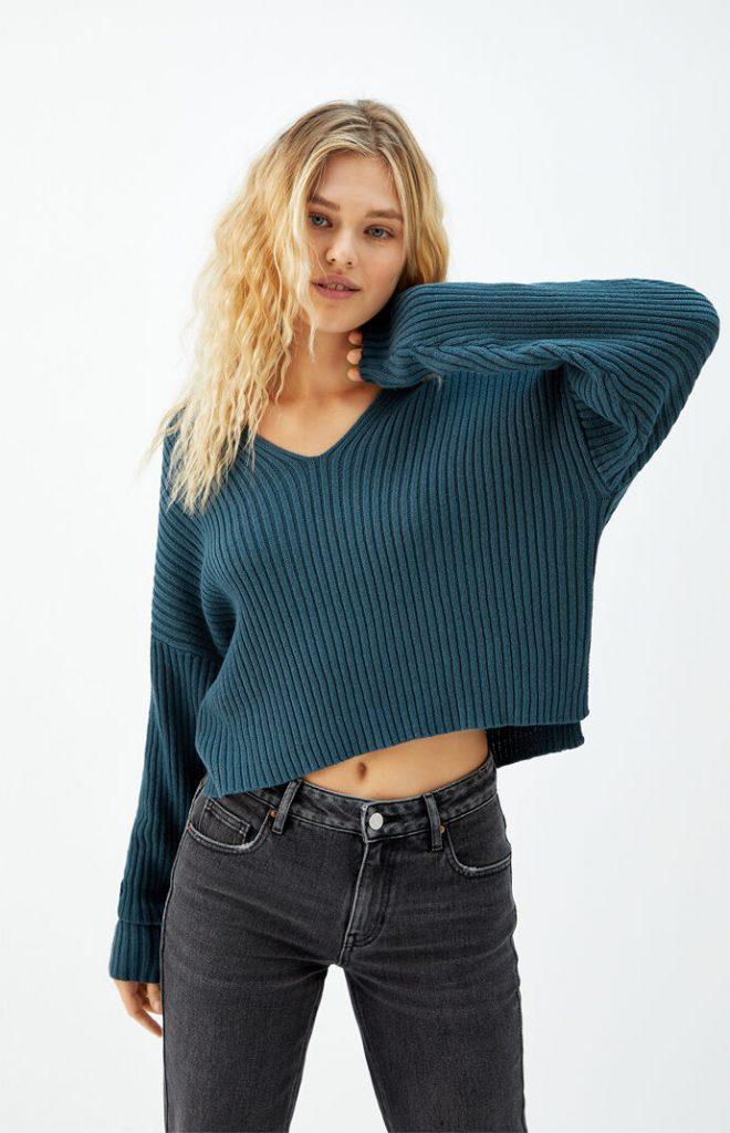 LA Hearts Notched Neck Sweater