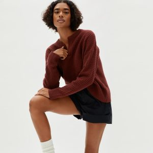 The Belgian-Waffle Henley in ReCashmere