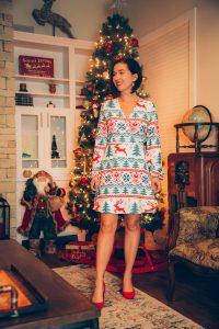 Shinesty Christmas wrap dress