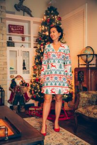 Shinesty Christmas wrap dress