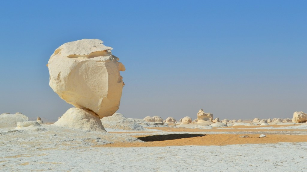 The White Desert in Farafra