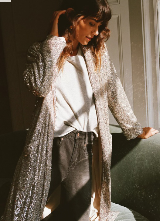 Hover your mouse over an image to zoom. Dulcinea Sequined Duster Jacket