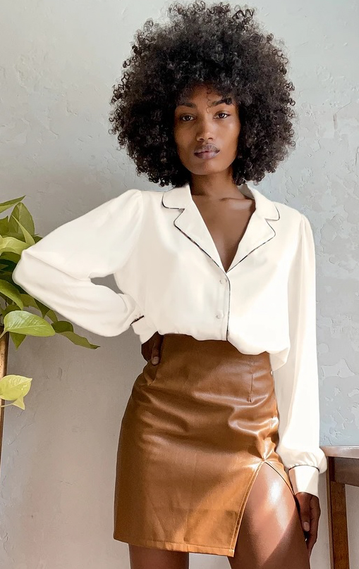 She's Chic White Long Sleeve Button-Up Top Lulus