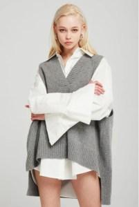 storets Lyla Oversized Knit Vest