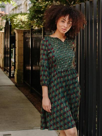 A breezy bohemian dress that's easy to style and easy to wear