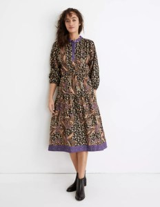 Warm Canyon Club Midi Dress in Hunt Club