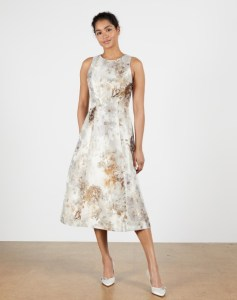 Vanilla jacqurd full skirted dress