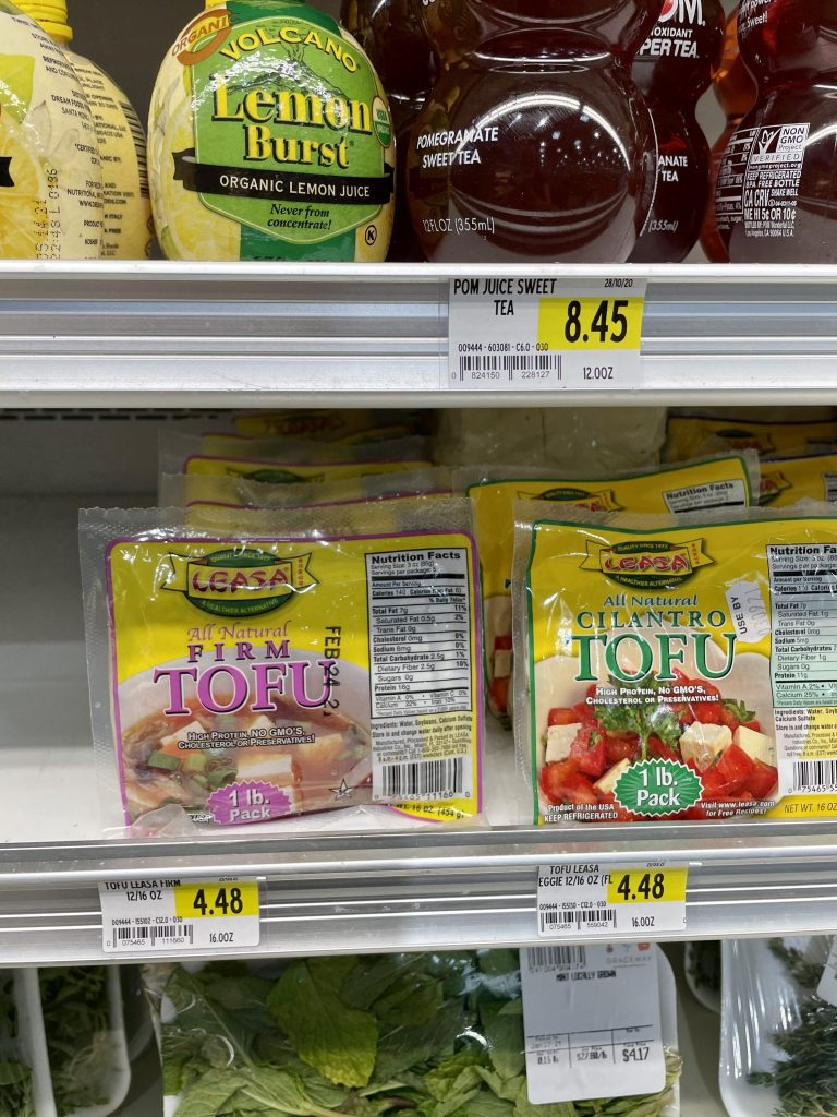 Tofu Grocery Prices in Turks and Caicos