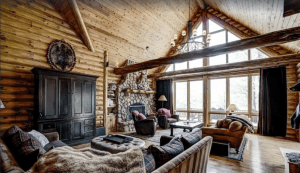 Vacation cabin rental on Little Round Lake