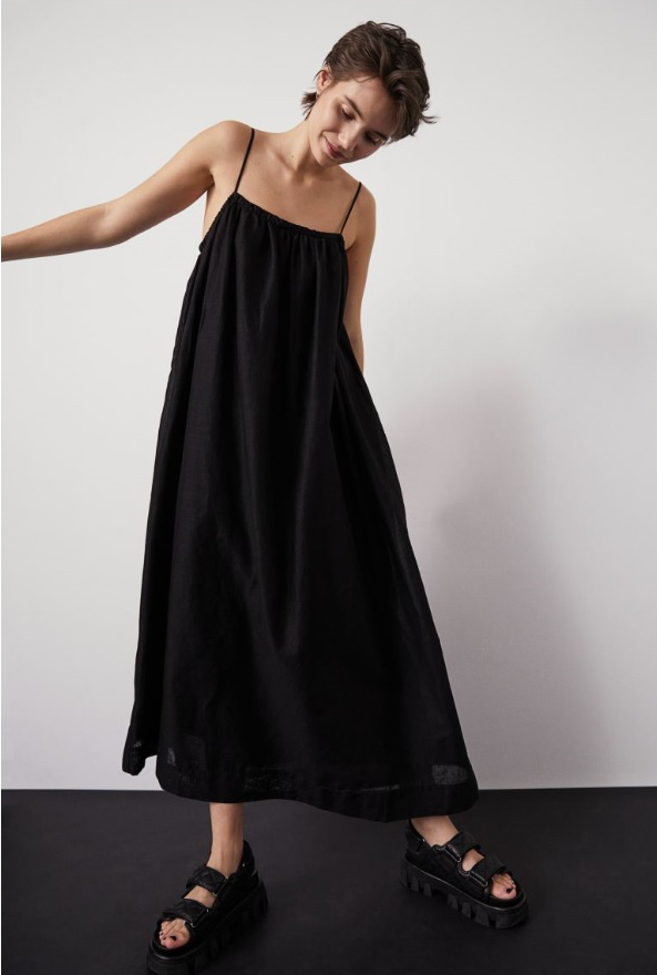 Voluminous Linen-blend Dress