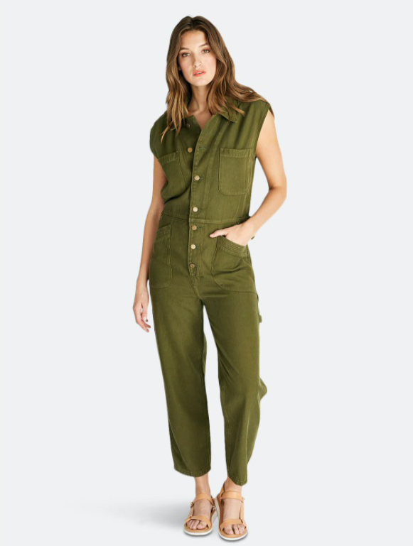 ÉTICA Heidi Sleeveless Coverall - Forest Night